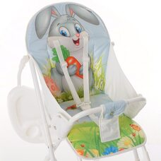 Детский стул для кормления с перекидной столешницей ЗАЙКА BAMBOLA