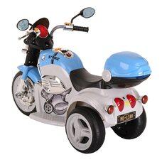 Электро-Мотоцикл PITUSO MD-1188 White-blue/ Бело-Голубой 6V/4Ah*1 колеса пластик